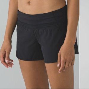 Lululemon run time shorts 4way stretch